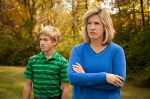 Mother and Son at Odds